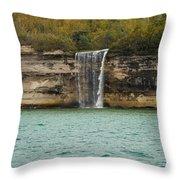 Lake Superior Pictured Rocks 48 Throw Pillow