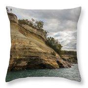 Lake Superior Pictured Rocks 53 Throw Pillow