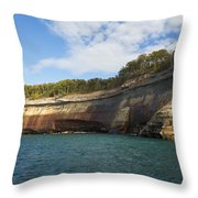 Lake Superior Pictured Rocks 6 Throw Pillow