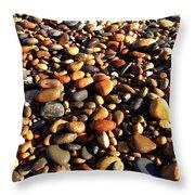 Lake Superior Stones Throw Pillow