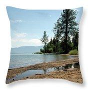 Lake Tahoe Beach Throw Pillow