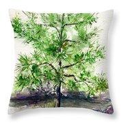 Lake Tahoe Tree Throw Pillow