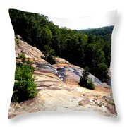 Lake Toxaway Gorge Throw Pillow by Crystal Joy Photography