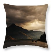 Lake Wakatipu At Sunset Throw Pillow