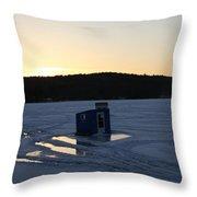 Lake Waukewan- Bobhouse 3 Throw Pillow