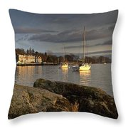 Lake Windermere Ambleside, Cumbria Throw Pillow by John Short