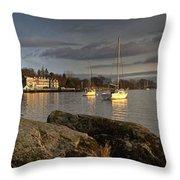 Lake Windermere Ambleside, Cumbria Throw Pillow
