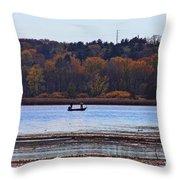 Lake Wingra Fishing Throw Pillow