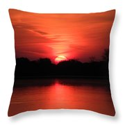 Lake Wingra Sunrise Throw Pillow