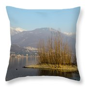Lake With Island Throw Pillow