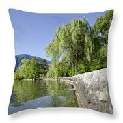 Lakefront With Trees Throw Pillow