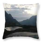 Lakes In Dolomiti Throw Pillow