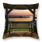 Lakeside Serenity Throw Pillow