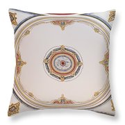 Laleli Mosque Ceiling Throw Pillow