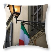 Lamp And Flag Throw Pillow