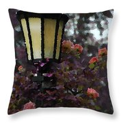 Lamp And Roses Throw Pillow