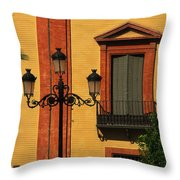 Lamp And Window In Sevilla Spain Throw Pillow