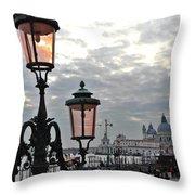 Lamp At Venice Throw Pillow