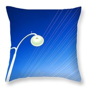 Lamp Post And Cables Throw Pillow