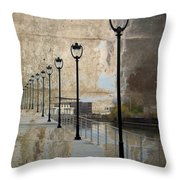 Lamp Posts And Concrete Throw Pillow