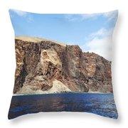 Lanai Sea Cliffs Throw Pillow