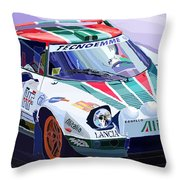 Lancia Stratos Alitalia Rally Catalonya Costa Brava 2008 Throw Pillow by Yuriy  Shevchuk