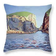 Land And Sea No I - Ramsey Island Throw Pillow