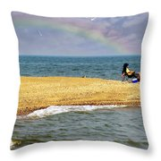 Land Of Pleasant Living Throw Pillow