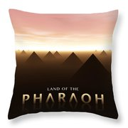 Land Of The Pharaoh Throw Pillow
