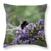 Landing Bee Throw Pillow