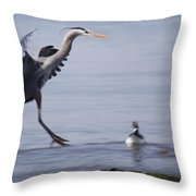 Landing With Brants Throw Pillow