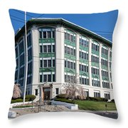 Landmark Life Savers Building I Throw Pillow by Clarence Holmes