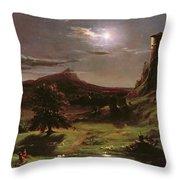 Landscape - Moonlight Throw Pillow