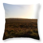 Landscape At Point Reyes California . 7d9958 Throw Pillow