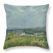 Landscape In Pontoise Throw Pillow