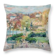 Landscape In Tours Throw Pillow