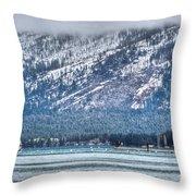 Landscape Lake Tahoe Throw Pillow