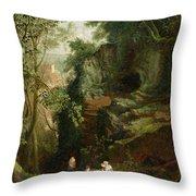 Landscape Near Clifton Throw Pillow