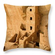Landscape View Of Square Tower Throw Pillow