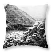 Landscape With Hydrangeas Throw Pillow