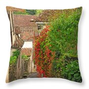Lane And Ivy In St Cirq Lapopie France Throw Pillow