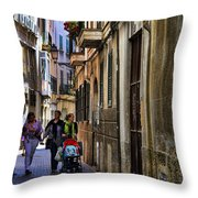 Lane In Palma De Majorca Spain Throw Pillow