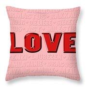 Language Of Love 4 Throw Pillow