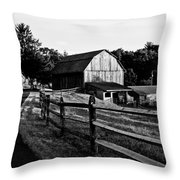 Langus Farms Black And White Throw Pillow