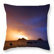 Lanikai Dawn Hawaii Throw Pillow