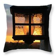 Lantern In The Sunset Throw Pillow