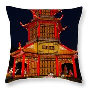 Lantern Lights Throw Pillow