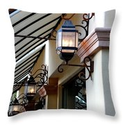 Lanterns And Lines Throw Pillow