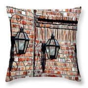 Lanterns In The Courtyard Throw Pillow