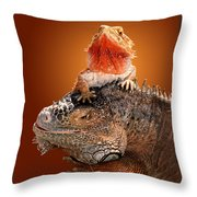 Lap Lizard Throw Pillow by Jim Carrell